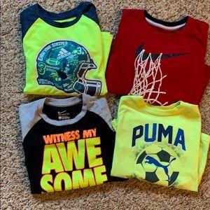 Nike, Adidas and puma shirt bundle